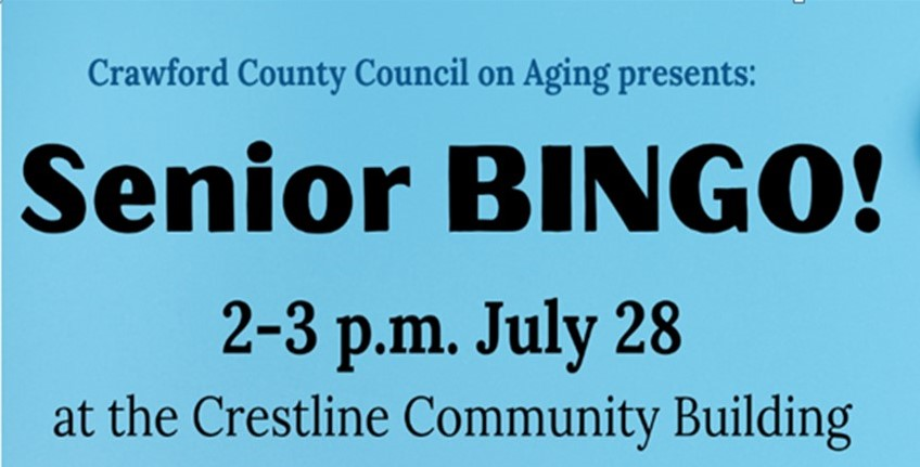 July Crestline Bingo front
